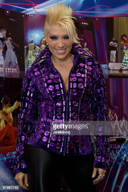 Mexican singer Yuri poses for a portrait during a press conference to announce her new Album Yuri the Concert on October 19 2009 in Mexico City Mexico
