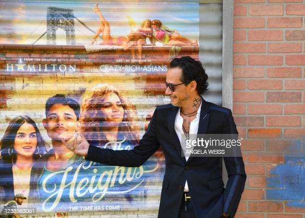 """Mexican singer-songwriter Marc Anthony attends the opening night premiere of """"In The Heights"""" during the Tribeca Festival at the United Palace..."""