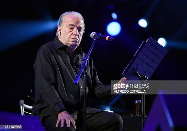 Mexican singersongwriter Oscar Chavez performs during the first day of the Vive Latino music festival in Mexico City on March 16 2019