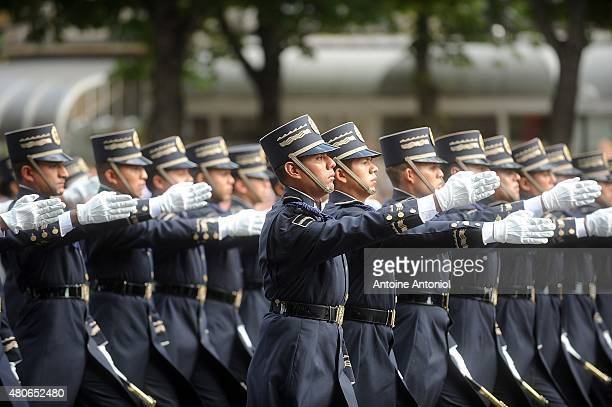 Mexican soldiers parade during the annual Bastille Day military parade on July 14 2015 in Paris France