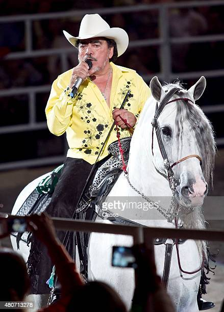 Mexican Songwriter Joan Sebastian performs during his show at Palacio de los Deportes on May 11 2013 in Mexico City Mexico Joan Sebastian died on...
