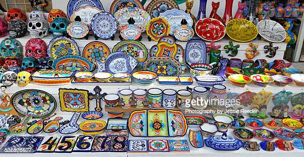 mexican souvenirs for sale - isla mujeres ストックフォトと画像
