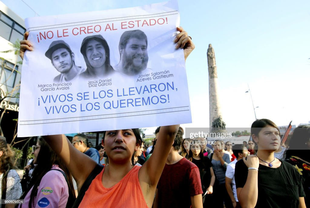MEXICO-CRIME-STUDENTS-PROTEST : News Photo