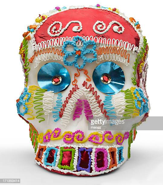 mexican sugar skull - sugar skull stock photos and pictures