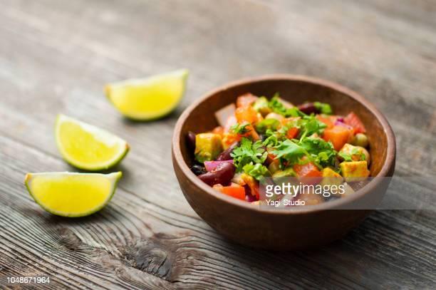 メキシコ味サラダ - タレ ストックフォトと画像
