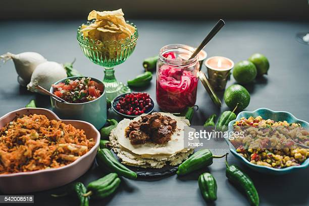 Mexican tex mex dinner food photography