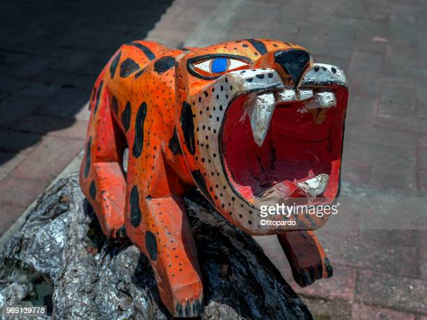 mexican toys alebrije - alebrije stock pictures, royalty-free photos & images