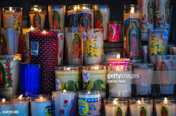 a mexican tribute to our lady of guadalupe - all souls day stock photos and pictures