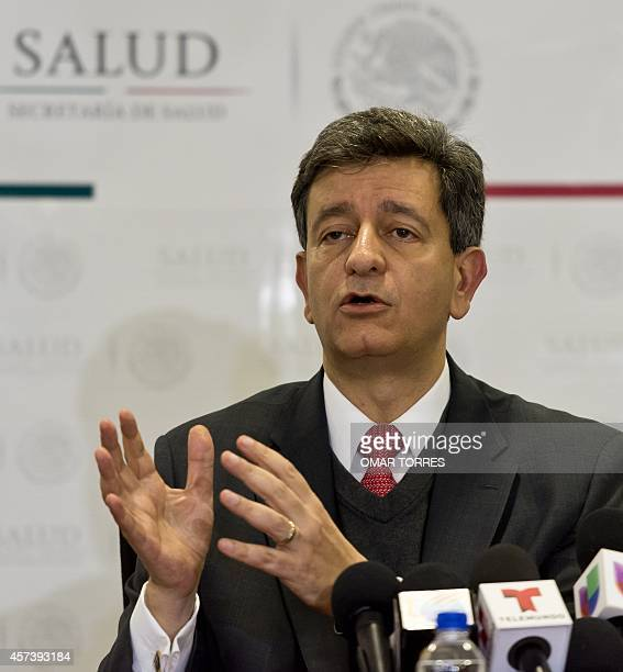 Mexican Undersecretary of Prevention and Health Promotion Pablo Kuri Morales speaks during a press conference where he explained the measures Mexico...
