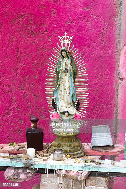 mexican virgin mary statue - shrine stock pictures, royalty-free photos & images