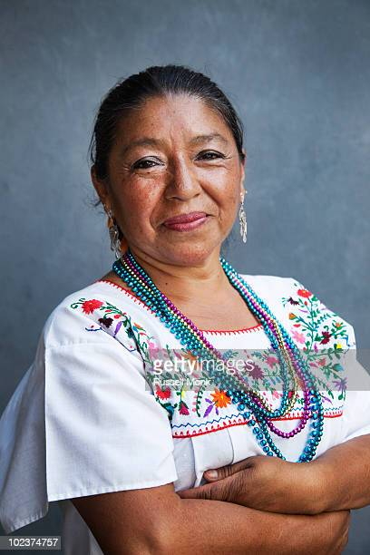 A Mexican woman in traditional dress