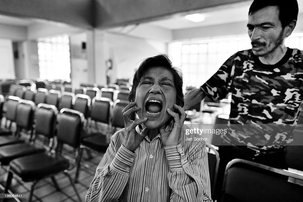 Exorcism in Mexico City : News Photo
