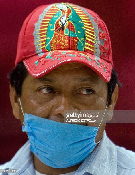 A Mexican worker from the Tlaxcala state waits for his fly at Mexico City's international airport on April 30 2009 The World Health Organisation...