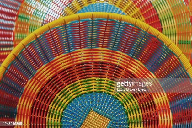 mexican woven colorful baskets - cinco de mayo background stock pictures, royalty-free photos & images