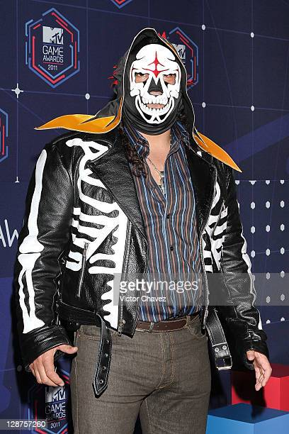 Mexican wrestler La Parka attends the 2011 MTV Game Awards at Salon Vive Cuervo on October 6 2011 in Mexico City Mexico