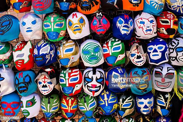 mexican wrestling mask, mission, san francisco, ca - mexican fiesta stock pictures, royalty-free photos & images