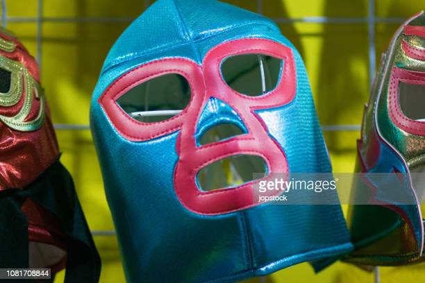 mexican wrestling mask - combat sport stock pictures, royalty-free photos & images