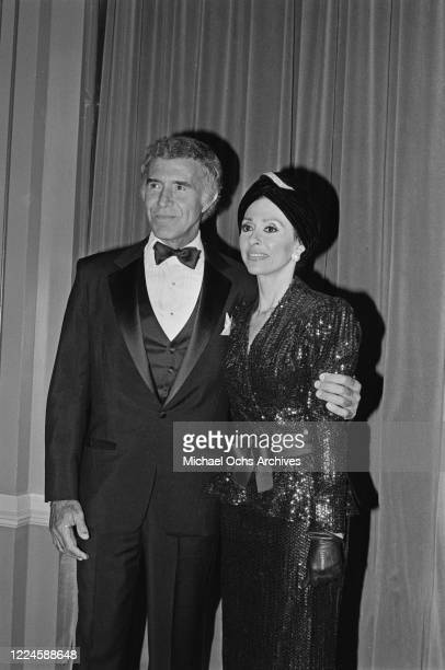 MexicanAmerican actor Ricardo Montalban with Puerto Rican actress and singer Rita Moreno during the 14th Annual Nosotros Golden Eagle Awards at the...