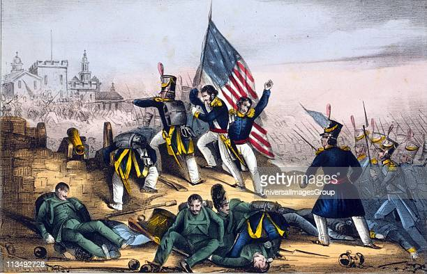 Mexican-American War 1846-1848: Battle of Chapultepec 12-13 September 1847. American forces overwhelming Mexicans at Chapultepec Castle which guarded...