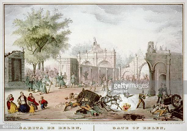 Mexican-American War 1846-1848: Battle of Chapultepec September 1847. US forces under Winfield Scott _defeated Mexicans under Nicolas Bravo....