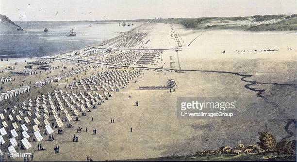 Mexican-American War 1846-1848: US troops under General Zachary Taylor encamped at Corpus Christi on the coast of Southern Texas. The camp was set up...