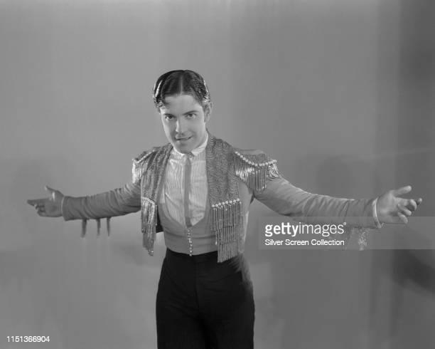 Mexican-born actor Ramon Novarro wearing an outfit resembling that of a matador, circa 1930.