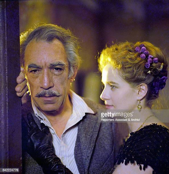 Mexicanborn American actor Anthony Quinn and French actress Dominique Sanda in The Inheritance January 1976