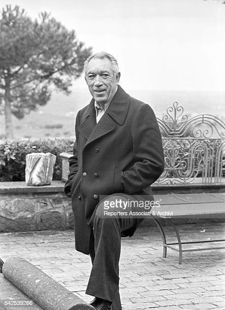 Mexicanborn American actor Anthony Quinn posing in his house 1975