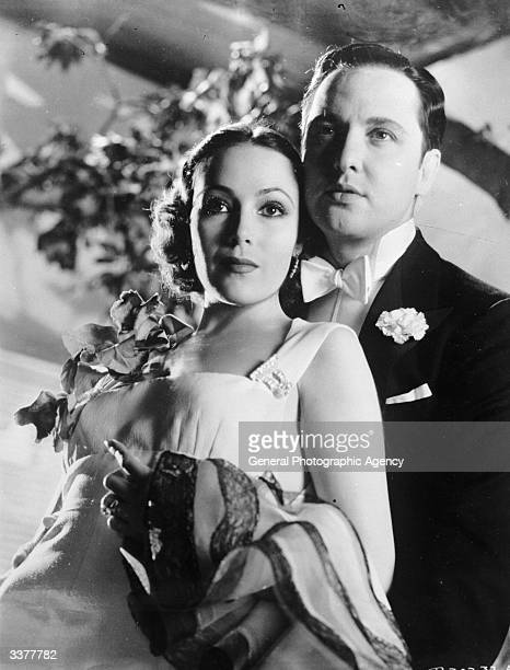Mexican-born Hollywood film actress Dolores Del Rio and actor Raul Roulien.