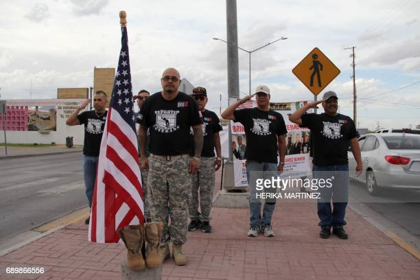 Mexicans who served in the United States Army in Vietnam and Iraq under the promise of becoming citizens and ended up as deportees take part in a...