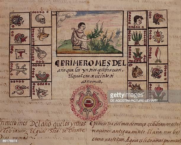 Mexico 16th century Aztec calendar