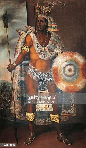 Mexico 16th century Portrait of Moctezuma II Aztec Emperor
