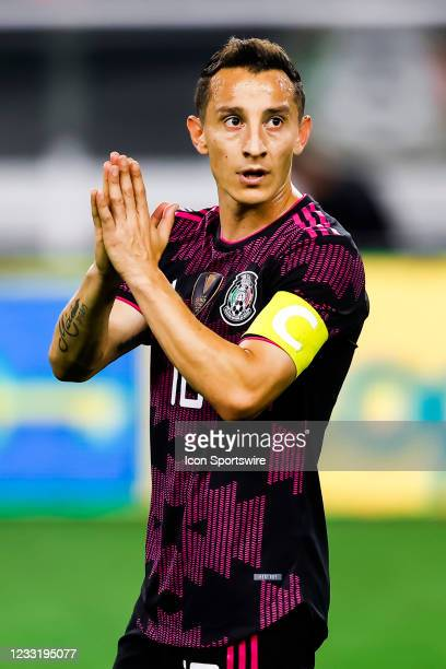 Mexico Andres Guardado in action during the game between Mexico and Iceland on May 29, 2021 at AT&T Stadium in Arlington, Texas.