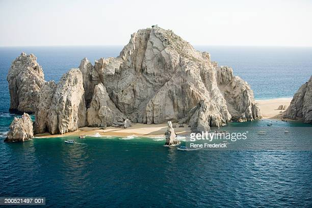 'Mexico, Baja, Cabo San Lucas, Land's End and Los Arcos, aerial view'
