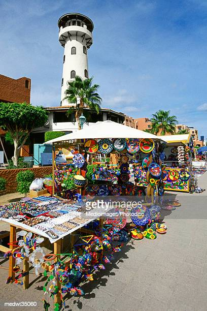 Mexico, Baja California, Cabo San Lucas, View of the marina market