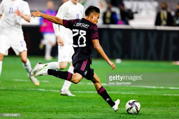 Mexico Carlos Rodriguez in action during the game between Mexico and Iceland on May 29, 2021 at AT&T Stadium in Arlington, Texas.
