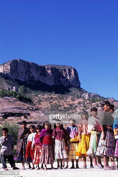 Mexico Chihuahua Near Creel Basihuare Tarahumara Indian Elementary Boarding School
