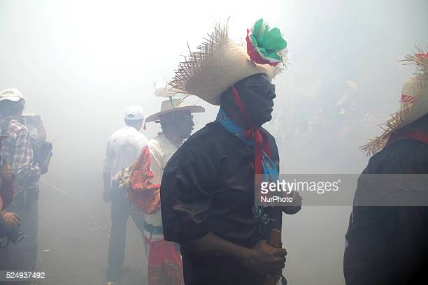 Mexico city 06may2015 Celebrating 153 years of the battle of puebla in the neighborhood of the quotpeon de los baosquot in the mexico city where do...