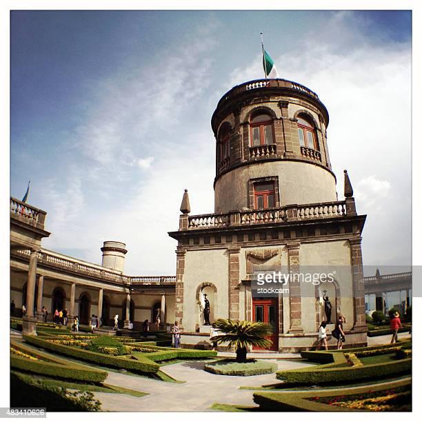 mexico city, chapultepec castle - chapultepec park stock photos and pictures