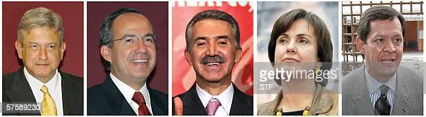 ACOMPANA NOTA Mexico Lopez Obrador da planton al primer debate televisivo de candidatos Combo realizado a partir de fotografias recientes de los...