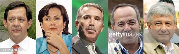 Combo realizado a partir de fotografias recientes de los candidatos a la presidencia de Mexico Roberto Campa del Partido Nueva Alianza Patricia...