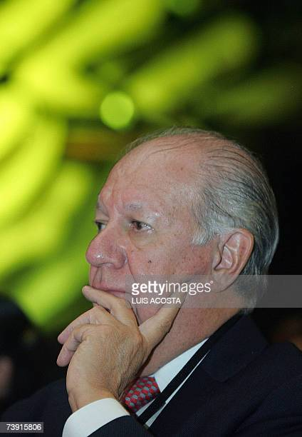 Former Chilean President Ricardo Lagos takes part of the conference 'Latin America Integration or Fragmentation' in Mexico City 18 April 2007 'The...