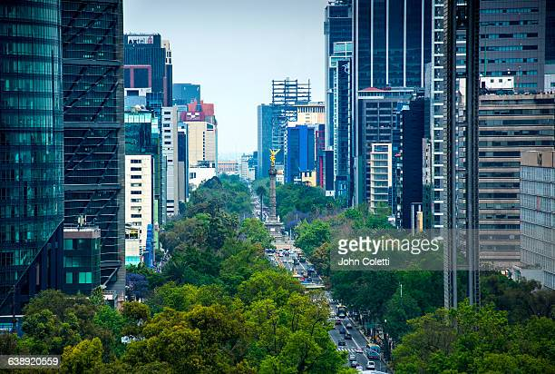 mexico city, mexico - independence monument mexico city stock pictures, royalty-free photos & images