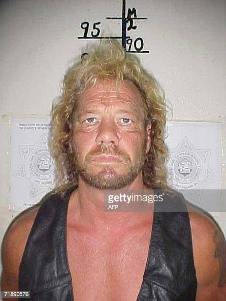 This 17 June 2003 file photo from the Mexican Police shows bounty hunter Duane Lee 'Dog' Chapman who was arrested by Mexican authorities in Puerto...