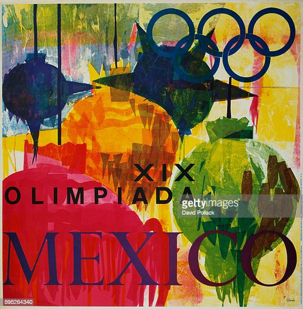 Mexico City Olympic Games Poster by Villazon