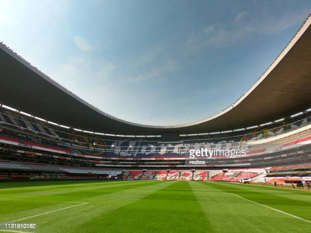 mexico city olympic stadium - olympic stadium stock pictures, royalty-free photos & images