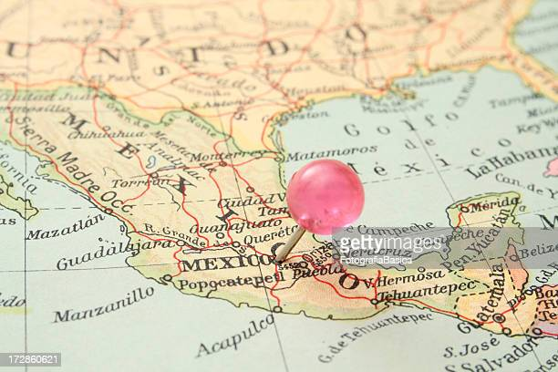 mexico city - mexico map stock photos and pictures