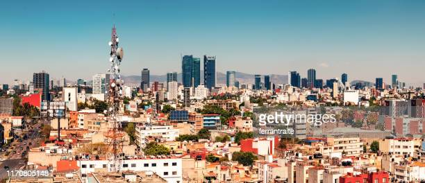 mexico city skyline - mexico city skyline stock pictures, royalty-free photos & images
