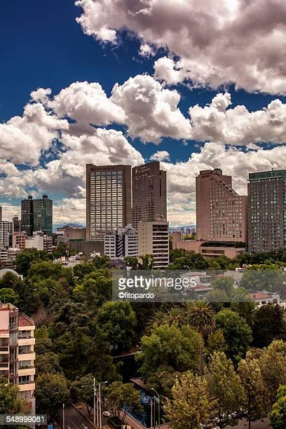 Mexico city skyline