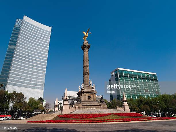 mexico city statue - independence monument mexico city stock pictures, royalty-free photos & images